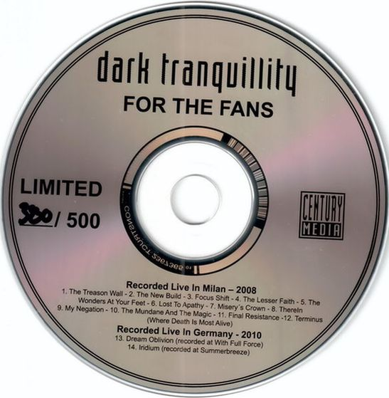 Download torrent Dark Tranquillity - For the Fans (2013)