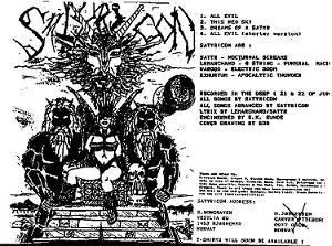 Download torrent Satyricon - All Evil (1992)